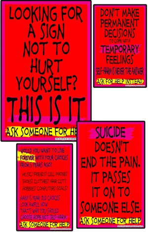 school self-harm prevention posters