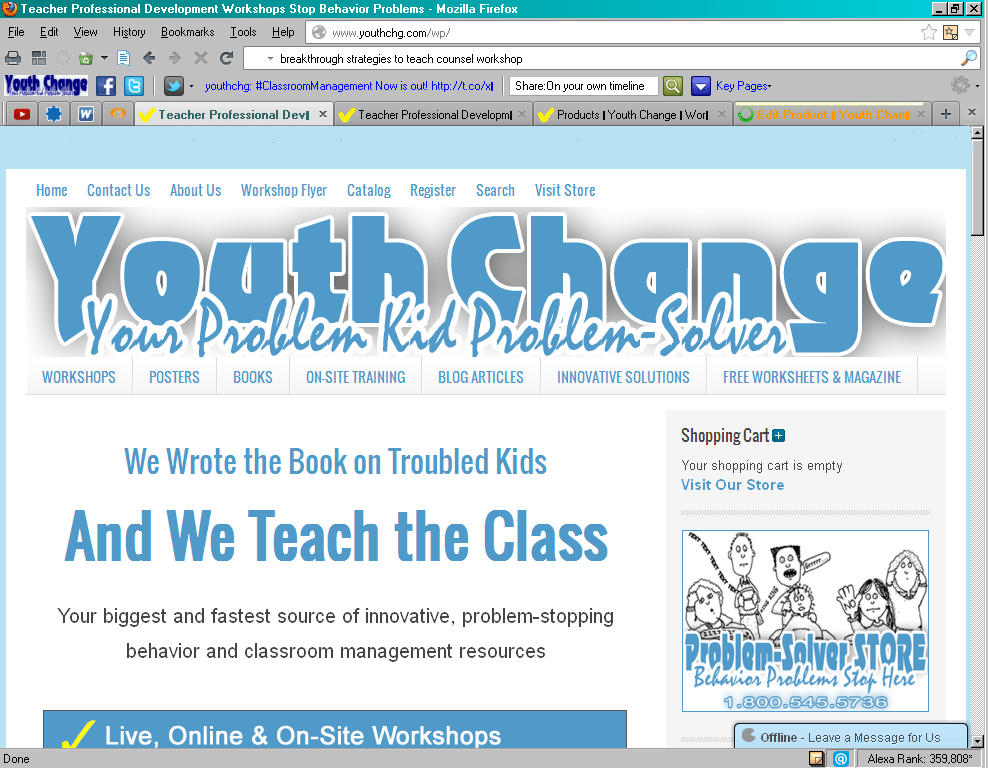 Youth Change Workshops website