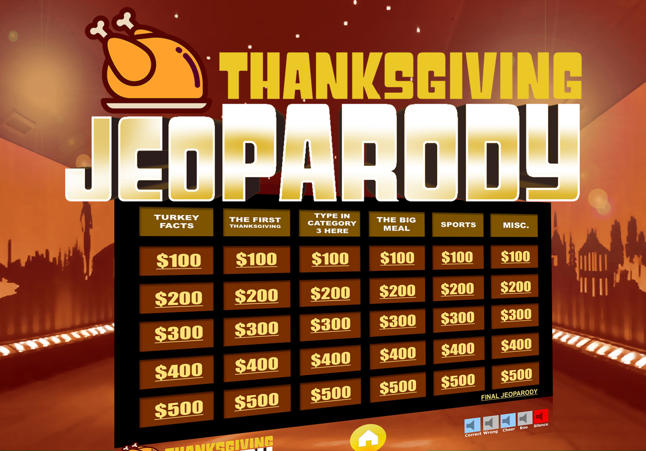 Thanksgiving Jeopardy Trivia Powerpoint Game Youth DownloadsYouth Downloads