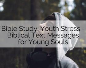 youth stress Bible study