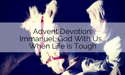 Devotion: Immanuel, God with Us…When Life is Tough