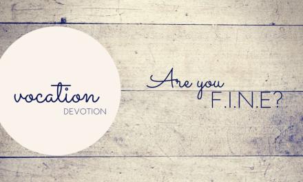 Devotion: Are you F.I.N.E.?