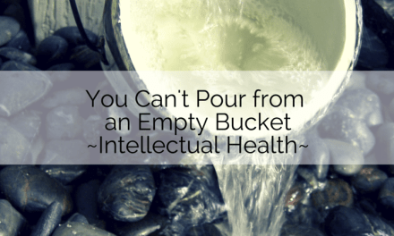 You Can't Pour From an Empty Bucket, Part 2
