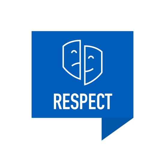 Respect Retreat Icon with Theater Mask