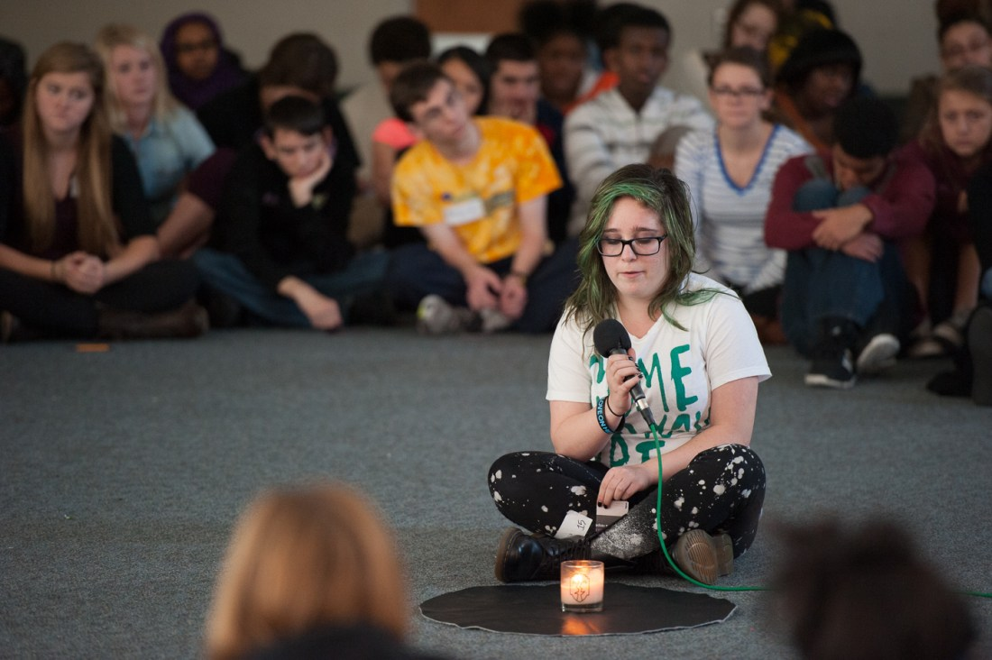 Students leave behind their comfort zones to build community on a Youth Frontiers Courage Retreat.