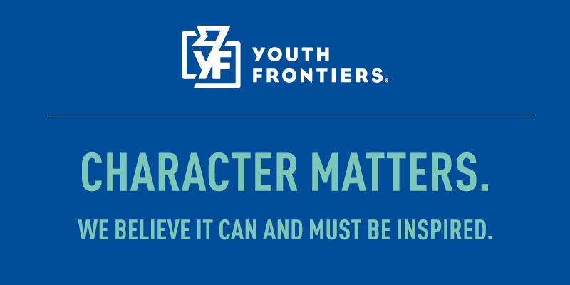 """Youth Frontiers Logo and """"Character Matters"""""""