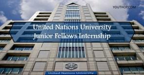 United Nations University Junior Fellows Internship Programme 2018