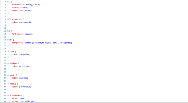 Some CSS code in my external stylesheet