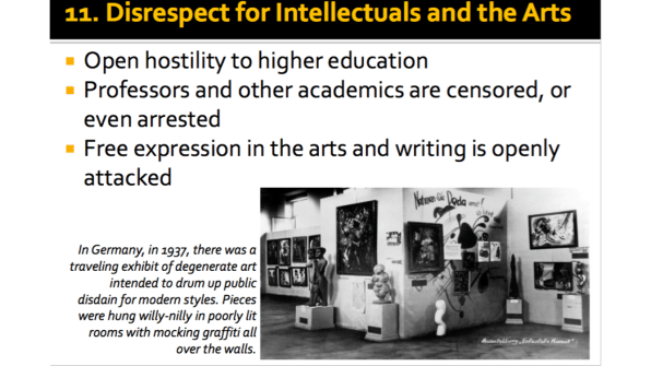 Disrespect for Intellectuals and the Arts