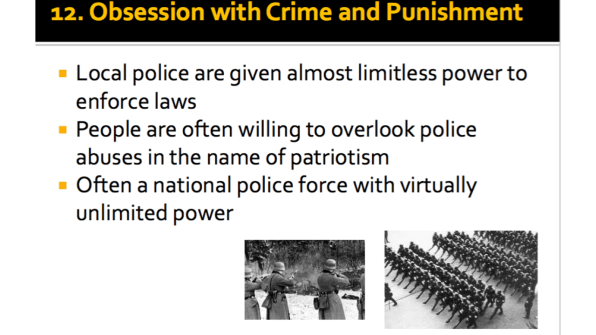 Obsession with Crime and Punishment