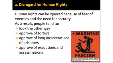 Disregard for Human Rights