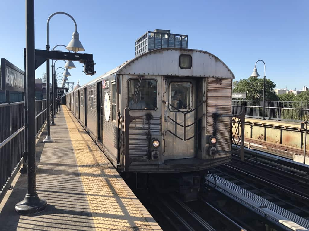 R32 subway cars, oldest and most rickety at 54 years old