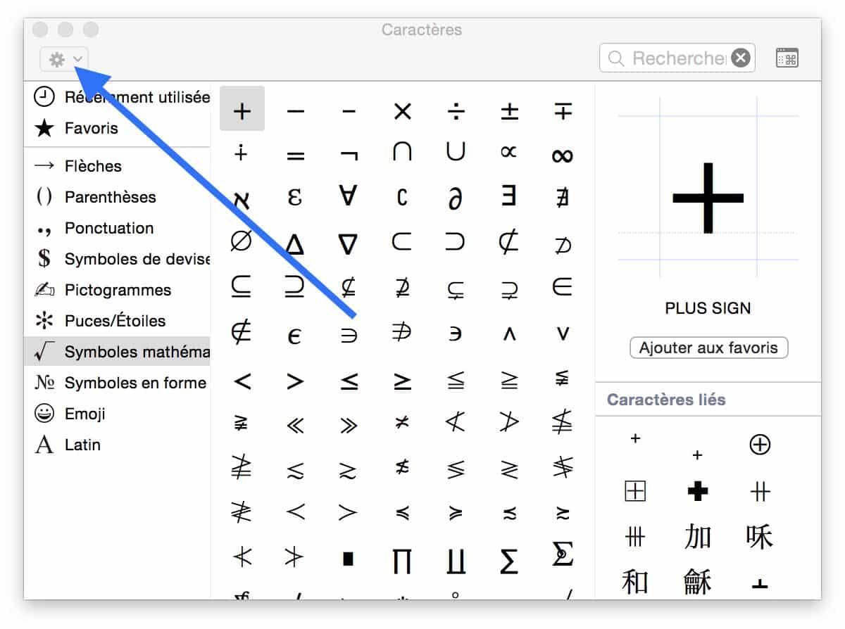 raccourci clavier mac symbole diametre