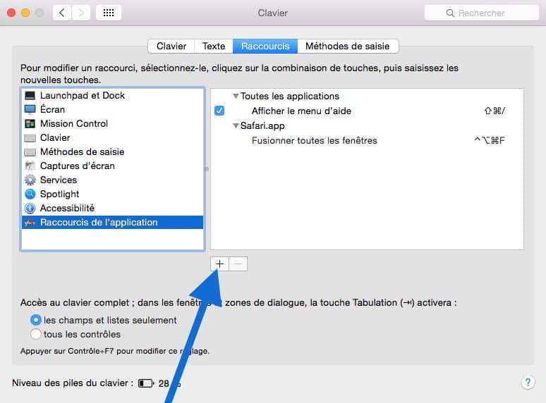 Ajouter un raccourci clavier personnalisé2