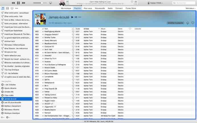 La musique jamais écoutée sur iTunes6