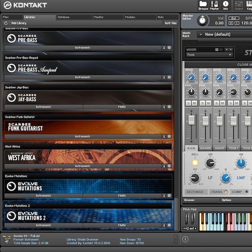 Changer un pattern de batterie Native instrument Abbey Road dans Logic pro