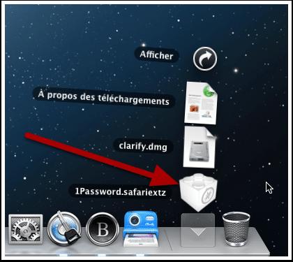 Le fichier qui contient l'extension Safari