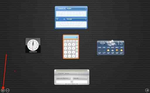 Dashboard MAC OS X 1