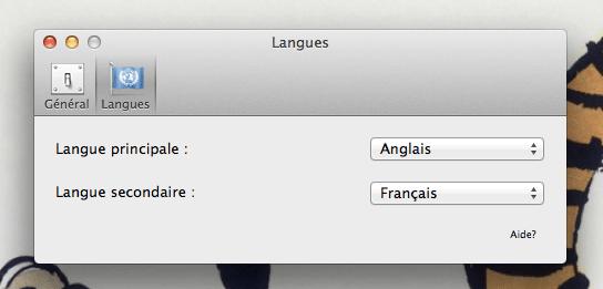 La fenêtre de préférences de subtitles.app