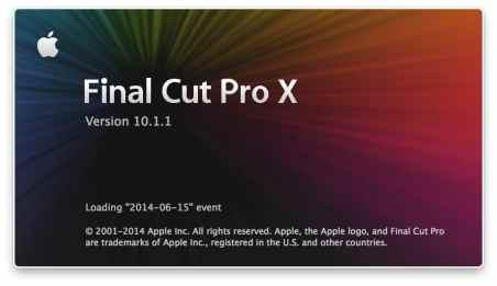 mise a jour final cut pro x 10.1.1