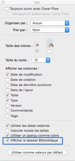 Afficher le dossier bibliothèque de votre Mac de façon permanente 3