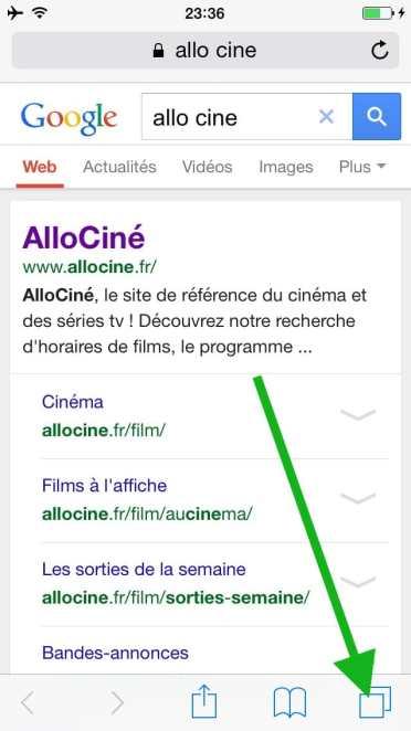Comment faire une recherche internet sur plusieurs pages sur l'iphone11