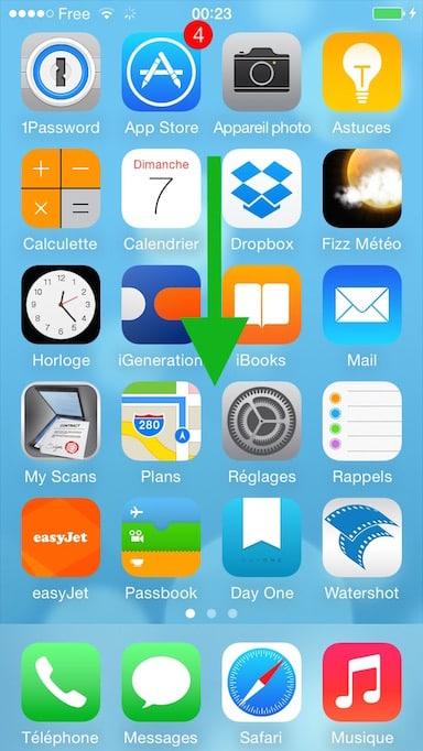 Faire une recherche Spotlight sur iOS1