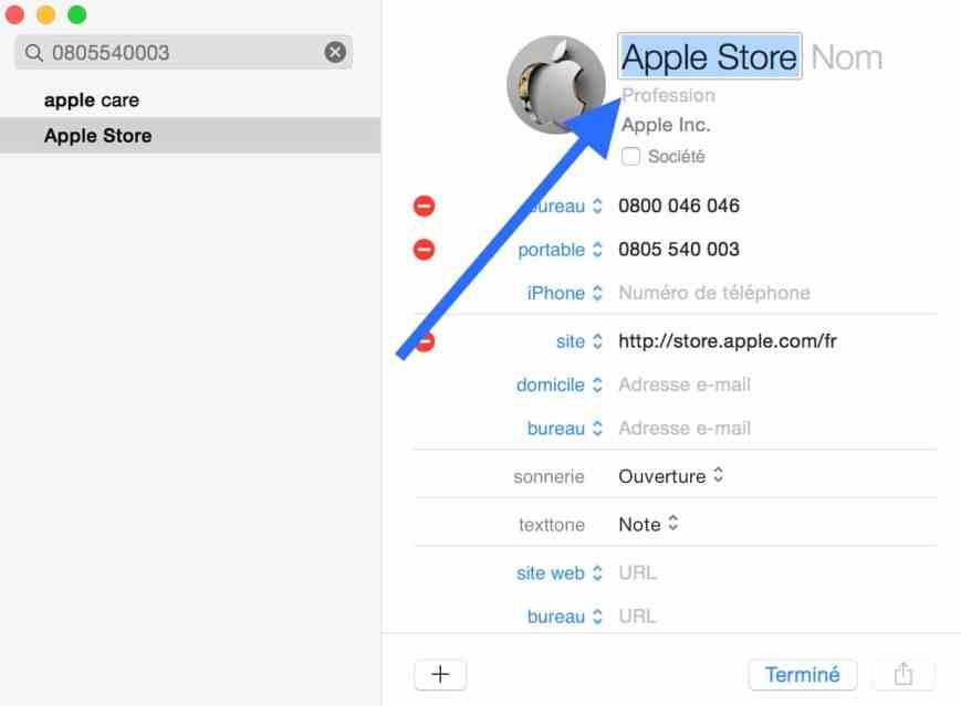 Personnaliser le carnet d'adresse de votre Mac 5