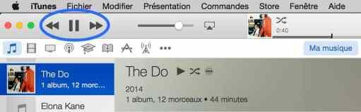 Les touches F7 F8 F9 dans iTunes