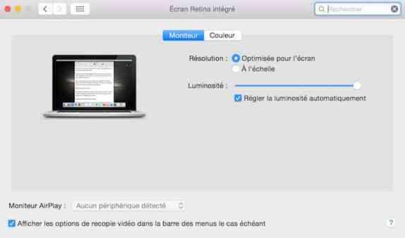 Raccourci mac pour r gler la luminosit et acc der aux for Reduire fenetre mac