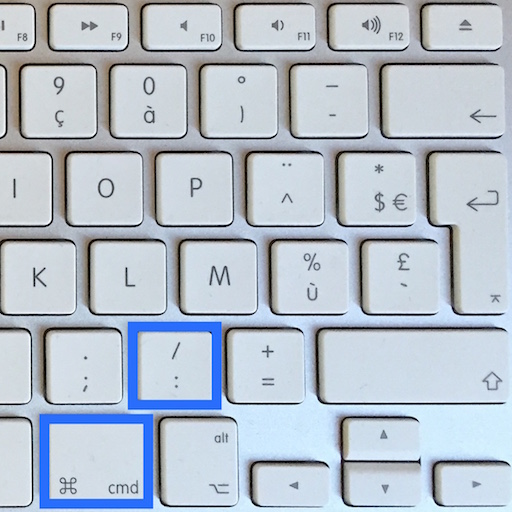 Raccourci mac commande 2 points