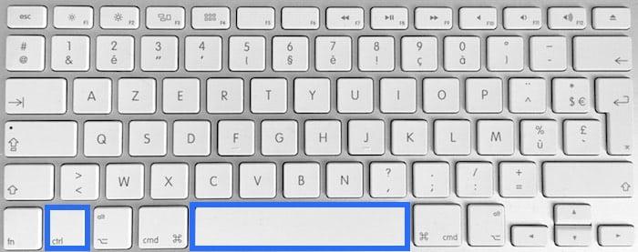 Raccourci pour lancer Spotlight sur Mac