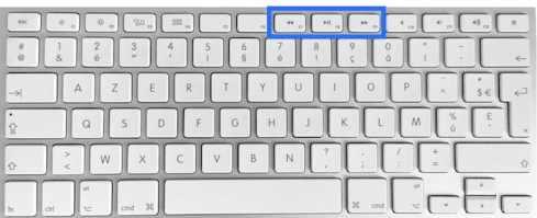 clavier Apple Bluetooth F7 F8 F9