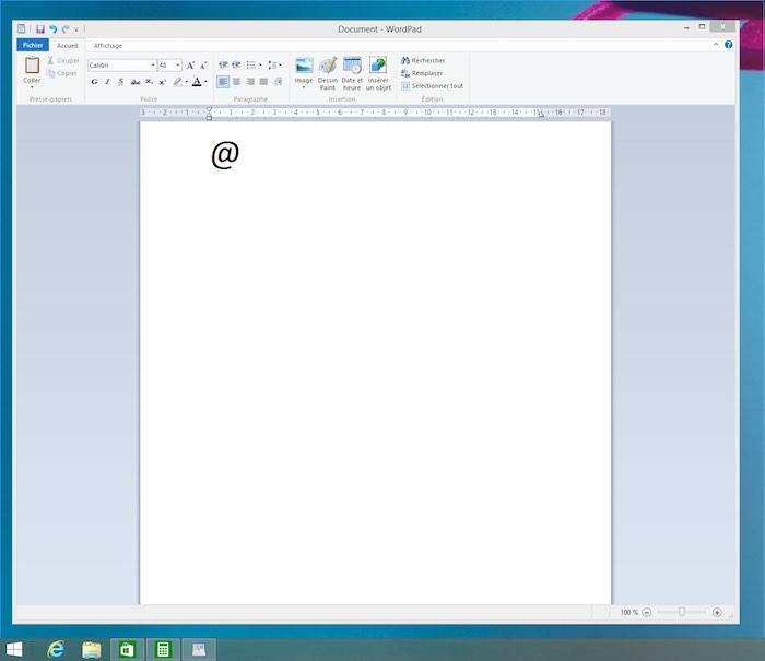 touche arobase sur windows machine virtuelle sur mac
