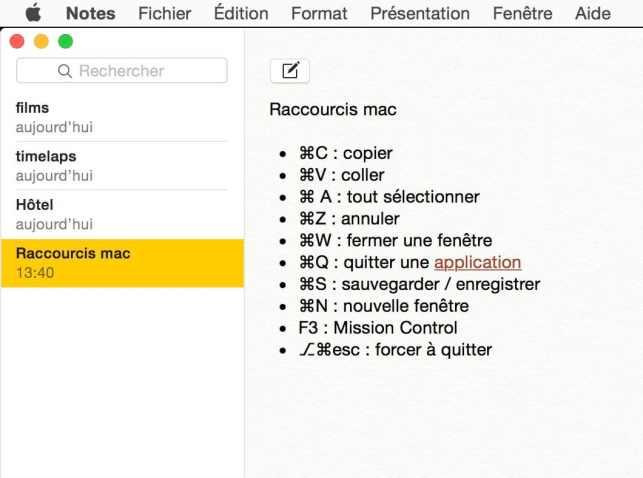 Raccourci clavier pour ouvrir la fenêtre de polices sur Mac1