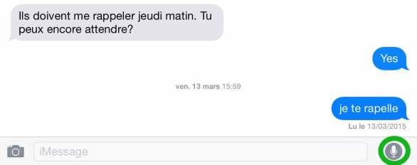 Envoyer un message audio par iMessage1