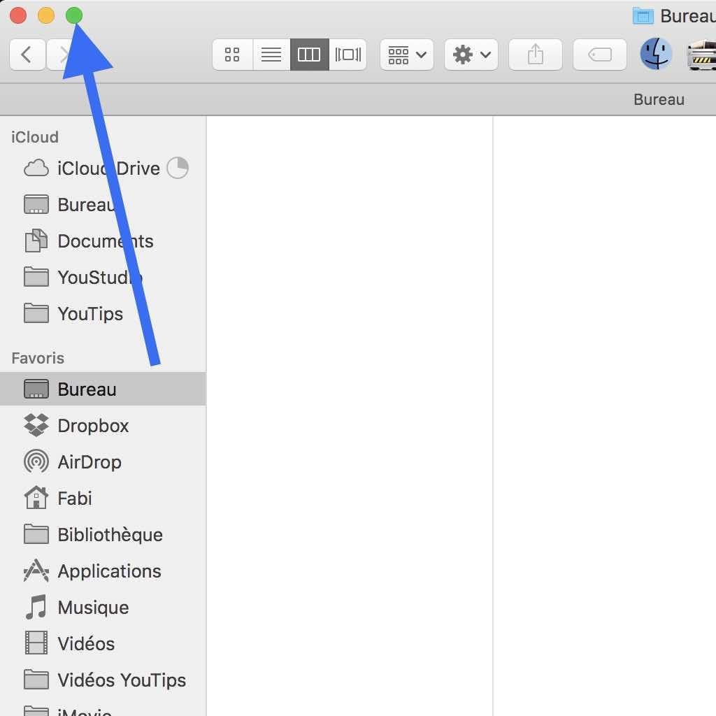 Sortir du mode plein écran sur Mac