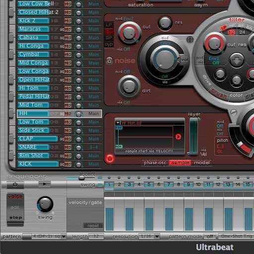 Tous les sons de batterie de Logic pro x