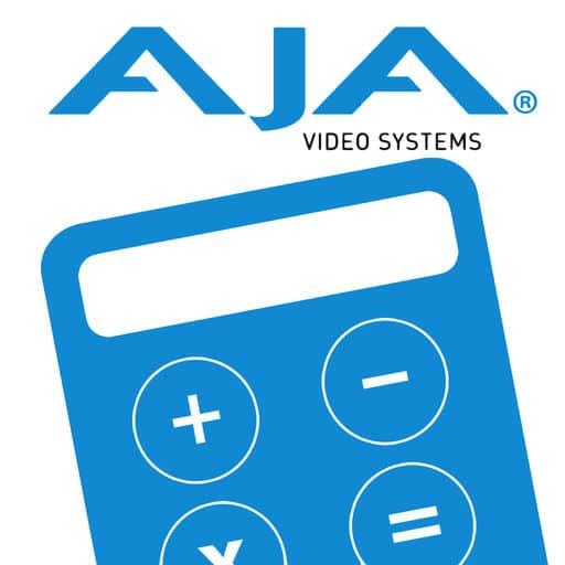 Application AJA DataCalc sur iPhone et Mac pour connaître le poids que feront vos images filmées
