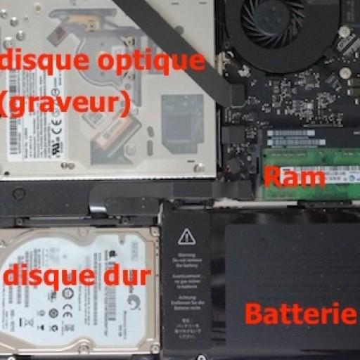 Changer la RAM et le disque dur d'un MacBook pro 13 pouces
