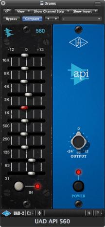 Présentation du Plug in UAD API560