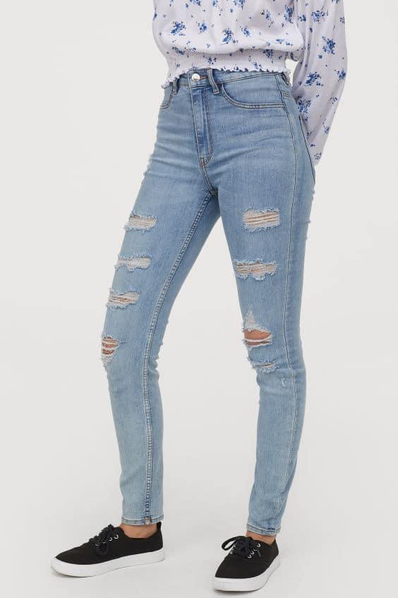 παντελόνι με σκισίματα