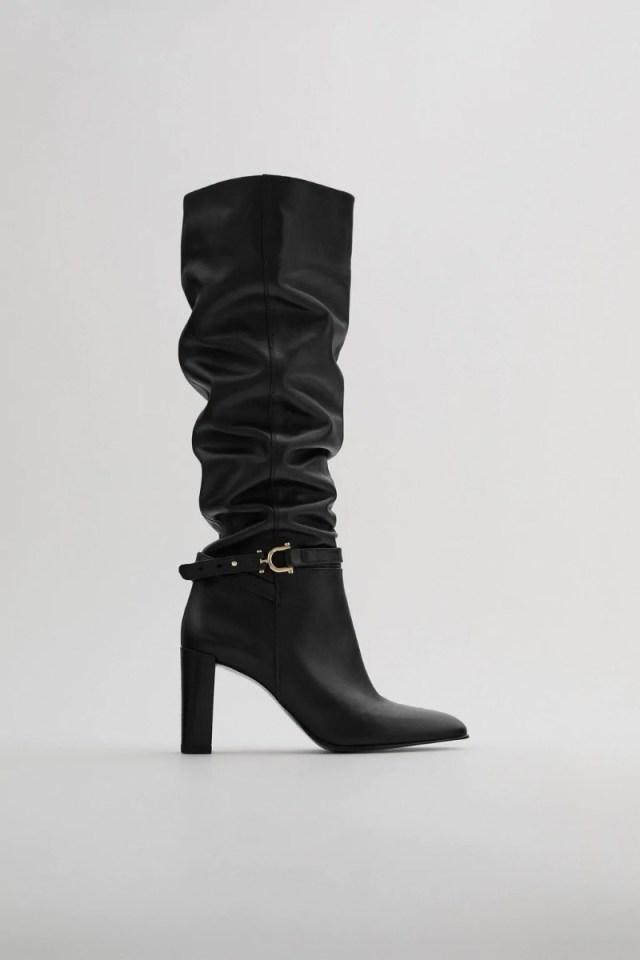 Zara μαύρη μπότα
