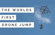Drone'dan Paraşütle Atlayan Çılgın Adam