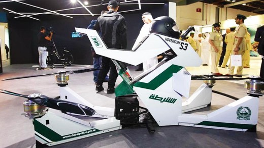 dubai polisi uçan motosikleti