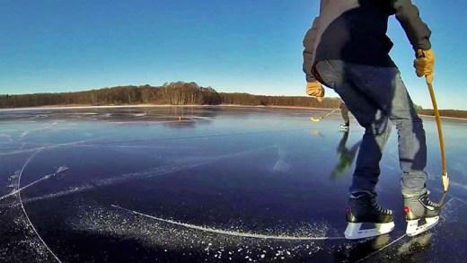 Blanktjärn kristal berraklığında donan göl