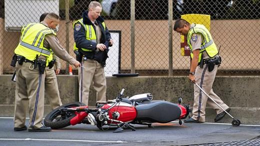 tuhaf ve komik motosiklet kazaları