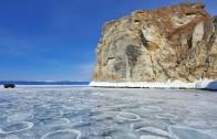 Baykal Gölünde Buzlu Duş