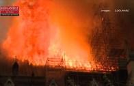 Çok Üzücü! İnsanlık Tarihinin Simgelerinden Notre Dame Katedrali Maalesef Böyle Yandı