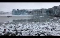 Çöken Buzulun Oluşturduğu Dev Dalgadan Son Anda Kurtuldular